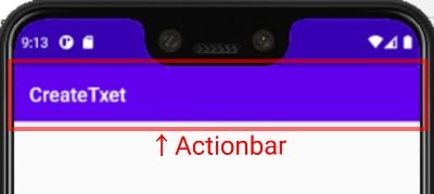 Androidアプリのアクションバー