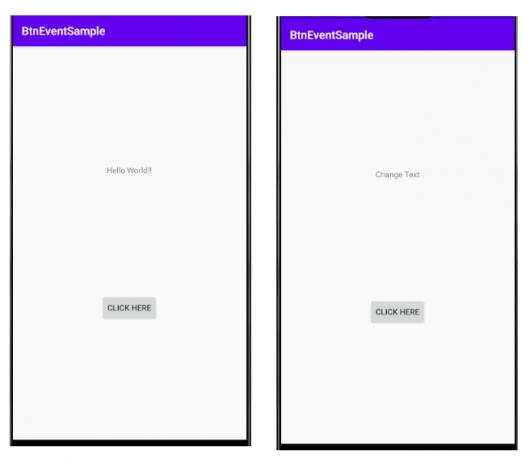 ボタンイベントサンプルアプリ